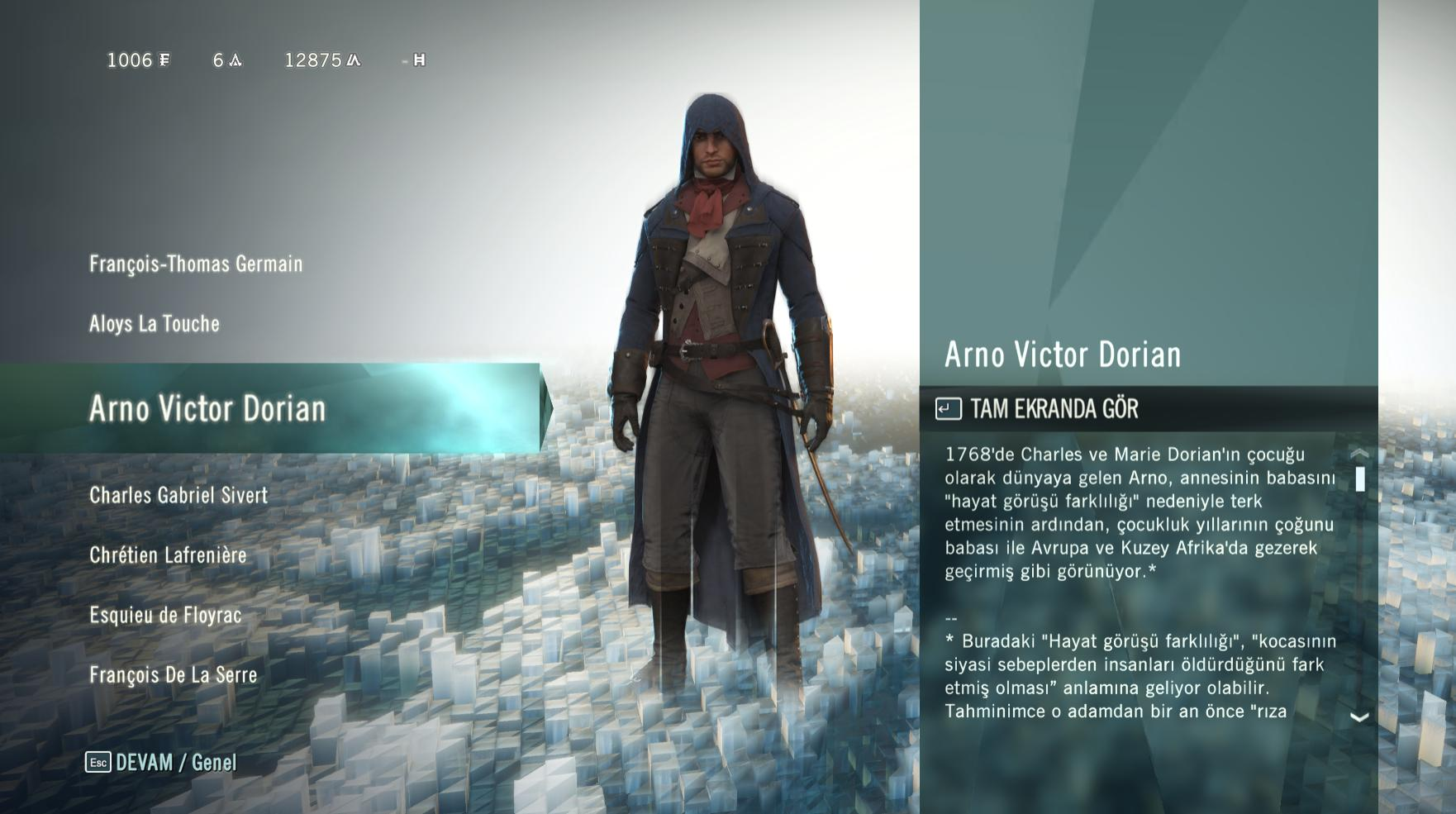 Assassin's Creed Unity %100 Türkçe Yama